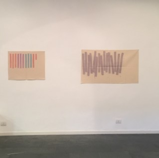 Giorgio Griffa. Pittura indeterminabile, veduta della mostra, Galleria Il Milione, Milano Courtesy Galleria Il Milione
