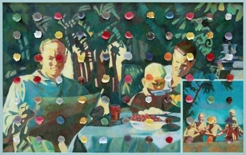 Ilya Kabakov, Holiday#5, 2014, olio su tela, 100.5x160x8 cm, Collezione Ernesto Esposito, Napoli