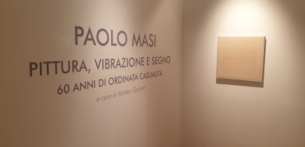 Paolo Masi. Pittura, vibrazione e segno. 60 anni di ordinata casualità, veduta della mostra, Palazzo Monferrato, Alessandria