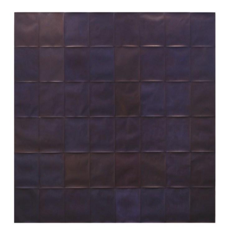 Silvia Inselvini, Notturni, 2019-20, penna a sfera su carta, composizione di n. 48 fogli A4 (178.2x168 cm) Courtesy PoliArt Contemporary Foto Bruno Bani, Milano
