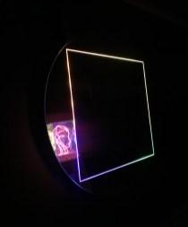 Donatella Schilirò, Prospetto spaziale, 2020, alluminio a specchio, led, diametro 120 cm