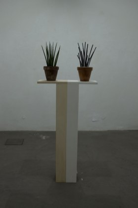 Andrea Francolino, Queste lunghe soglie mutevoli, veduta della mostra, Spazio Contemporanea (BS) Foto Studenti LABA, Brescia