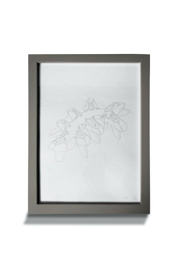 Diego Dutto, Scultura disegnata, 2020, matita su carta, 21x29.7cm Courtesy Traffic Gallery Photo by Zoe Rigante