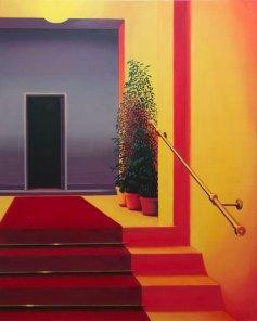 Laura Giardino, INT 12, 2019, tecnica mista su tela Courtesy l'artista e Galleria Area\B, Milano