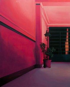 Laura Giardino, INT 14, 2019, tecnica mista su tela Courtesy l'artista e Galleria Area\B, Milano