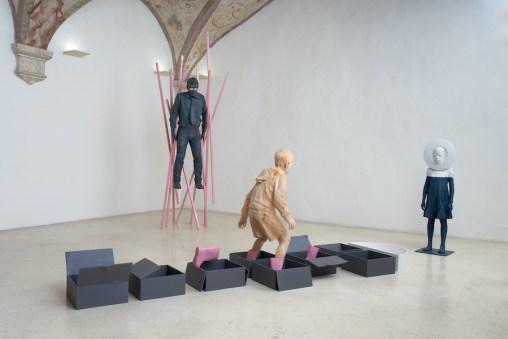 Willy Verginer. Rayuela, veduta della mostra, Studio d'Arte Raffaelli, Trento