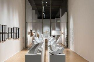 Enzo Mari, 44 valutazioni, 1976-2008, veduta della mostra Foto Gianluca Di Ioia Courtesy Triennale, Milano