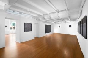 Tomas Rajlch. Black Paintings 1976-79, veduta della mostra, ABC Arte, Genova