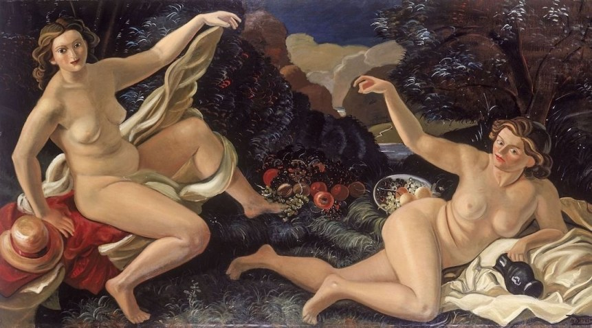 André Derain, La Clairière, ou le déjeuner sur l'herbe, 1938, olio su tela, 138x250 cm, Association des Amis du Petit Palais, Ginevra © 2020, ProLitteris, Zurich