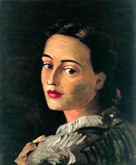 André Derain, Portrait de Geneviève en bleu, 1937-1938, olio su tela, 35x28 cm, Collezione privata © 2020, ProLitteris, Zurich