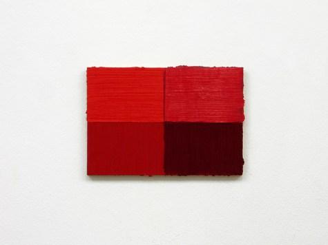 Paolo Parisi, Unité d'habitation (four reds) Courtesy l'artista