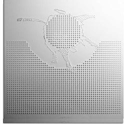 Ugo La Pietra, Formazione di un territorio, 1966, lastra di metacrilato lavorata a freddo, cm 60x60 - Courtesy E3 Arte Contemporanea
