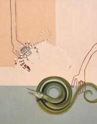 Sophie Ullrich, Diskussion, 2021, olio su tela, 130x100 cm