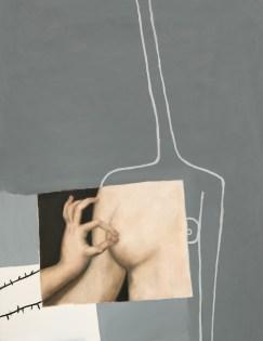 Sophie Ullrich, Heinrichs Träume, 2019, olio su tela, 130x100 cm