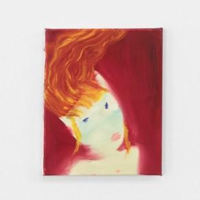 Aneta Kajer, Lady on fire, 2021, acrylic on canvas
