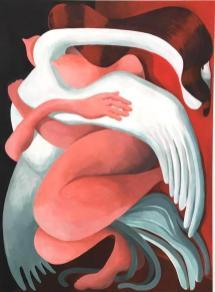 Sophie Stükle, Zigratstraße 1, 2020, acrylic on cavas, 100x140 cm