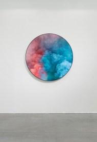 Goldschmied & Chiari, Untitled view, 2020, stampa su vetro e specchio, Ø cm 140. Courtesy Galleria Poggiali