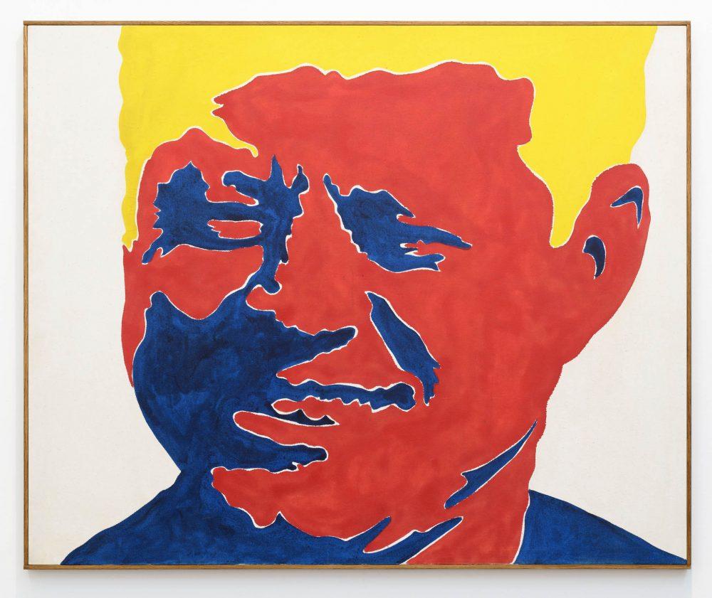 Sergio Lombardo, Kennedy, 1963-64, smalto su tela, 130 x 158,5 cm, Photo credit: Giorgio Benni, Courtesy 1/9unosunove