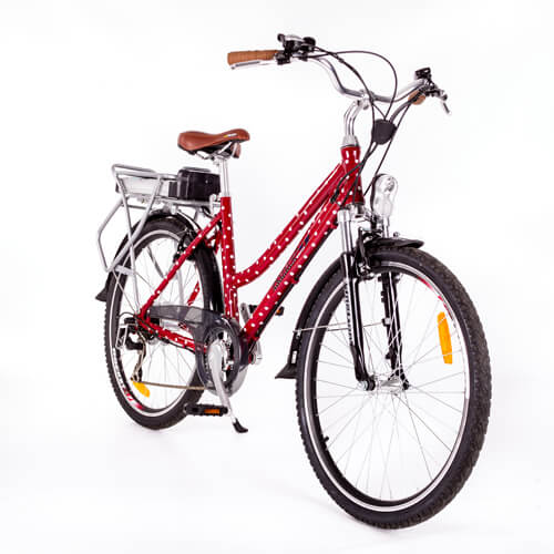 RooDog Polka Dot electric bike red