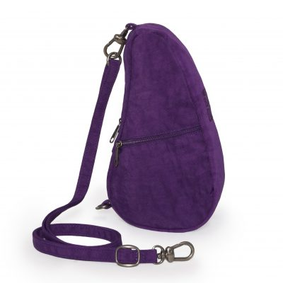 Textured Nylon Healthy Back Bag Baglett Purple
