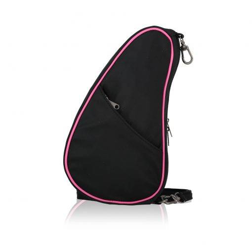 Microfibre Healthy Back Bag Large Baglett Cause Baglett in Black with a pink ribbon