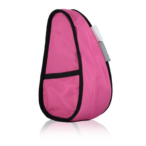 Microfibre Healthy Back Bag Large Baglett Cause Baglett in Black with a pink ribbon - inside