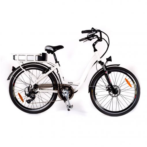 RooDog Chic electric bike in vintage pearl white