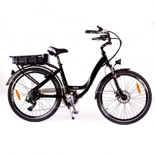 RooDog Chic electric bike in glossy black