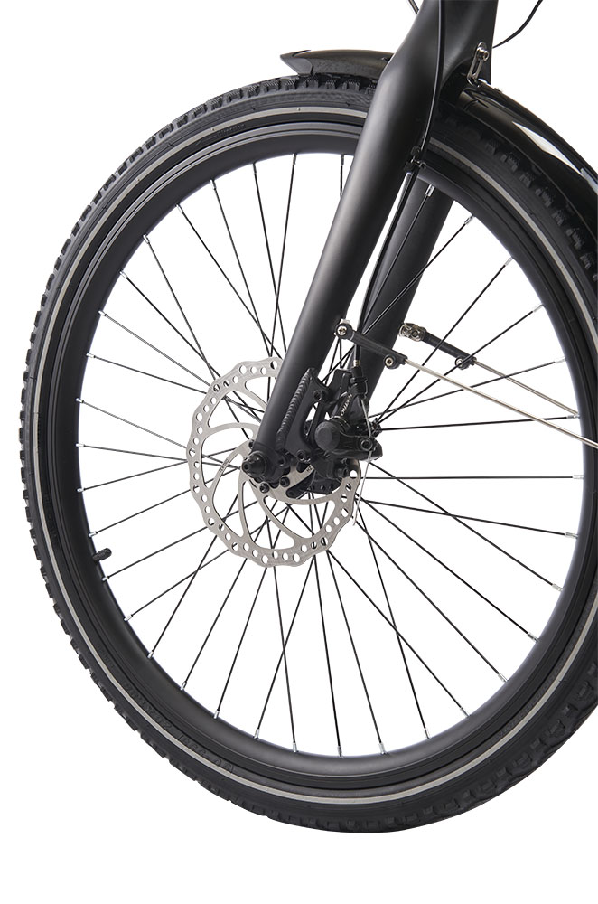 Wisper 905 SE crossbar electric bike front wheel