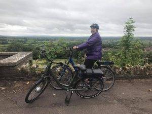 Daphne on the Pulse ZL 2 ebike on a Breeze ride in Wincanton Somerset