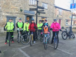 Breeze ladies outshide Hooga Coffee in Wincanton Somerset