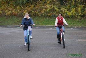 Kay on the wisper 70se and Amanda on the Roodog Striker ebikes