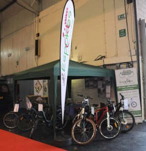 Espokes showcasing their ebikes at the Exeter Motorhome Show