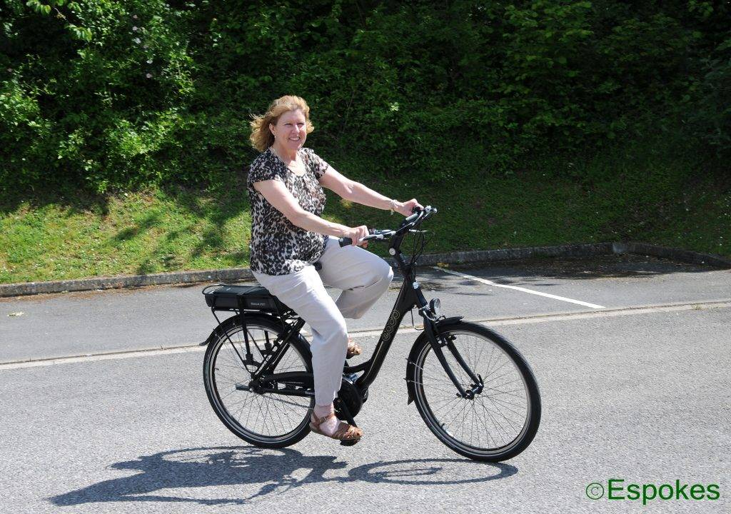 Sarah Austin of Alton collecting her EBCO UCL 60 step-through ebike