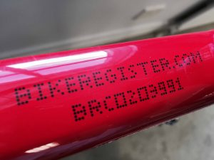 BikeRegister Permanent marking kit