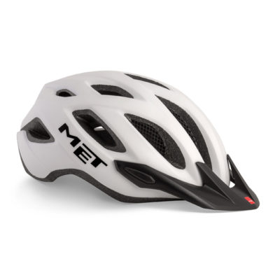 MET Crossover Cycle Helmet White Matt