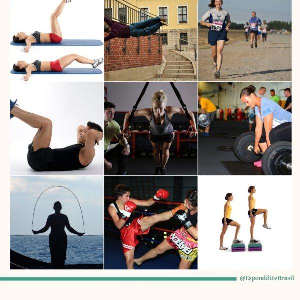 Exercicios a serem evitados na Espondilite