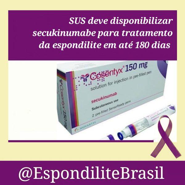 Secukinumabe será disponibilizado para espondilite e artrite psoriásica no SUS
