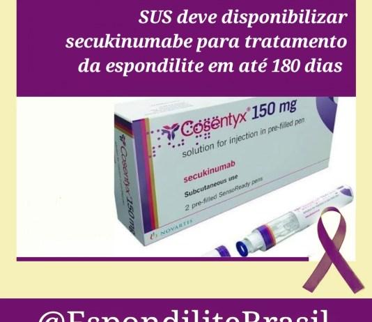"""alt=""""O SUS deve disponibilizar secukinumabe para tratamento da espondilite"""""""