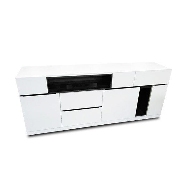 黑白雙色 定製邊櫃b30066 – ESHOME意思家居 頂級訂製家具
