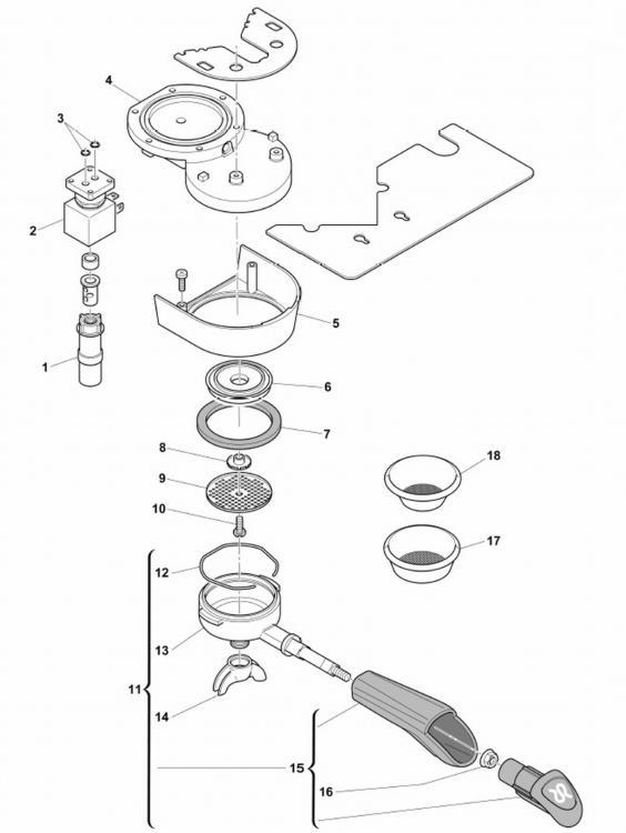 Rancilio Silvia M Espresso Machine Replacement Parts