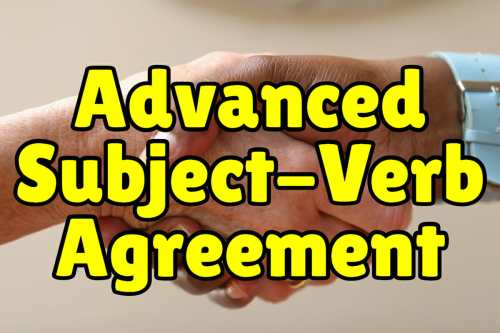 small resolution of Advanced Subject Verb Agreement + Exercises – Espresso English