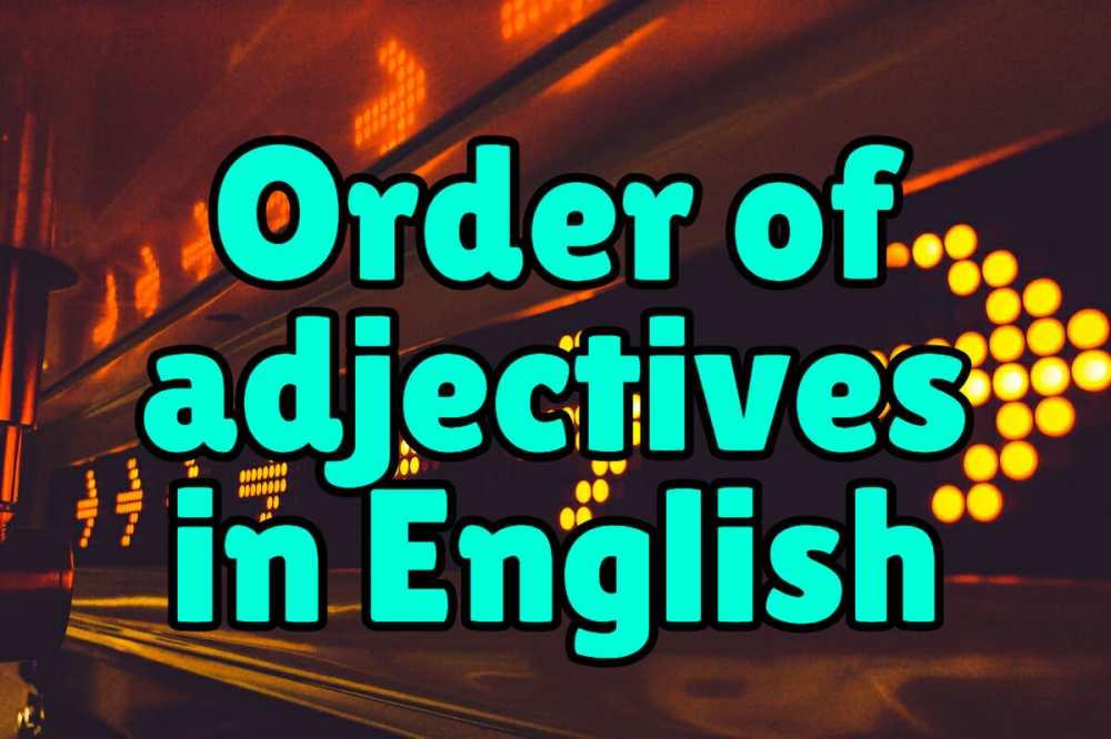 medium resolution of Order of Adjectives in English – Espresso English