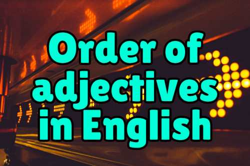 small resolution of Order of Adjectives in English – Espresso English