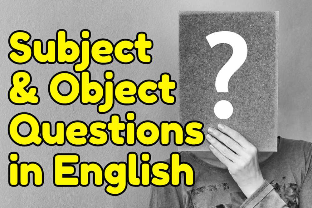 medium resolution of Subject and Object Questions in English – Espresso English