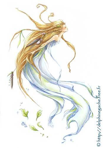 esprit de la nature sylphide sylphe