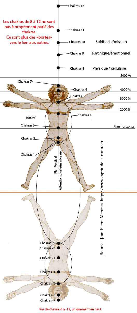 Chakras structure et lien
