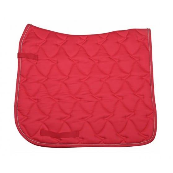 tapis pour cheval rouge selle mixte ou dressage