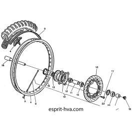 ROUE AVANT POUR HUSQVARNA WR125 2002 Esprit-HVA.com la
