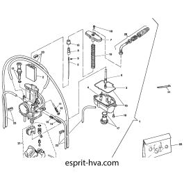 CARBURATEUR POUR HUSQVARNA WR125 2002 Esprit-HVA.com la